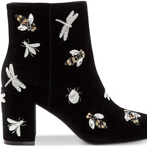 INC Womens GEORGIEE Ankle Black Bootie Bugs